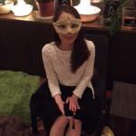 仮面女性写真